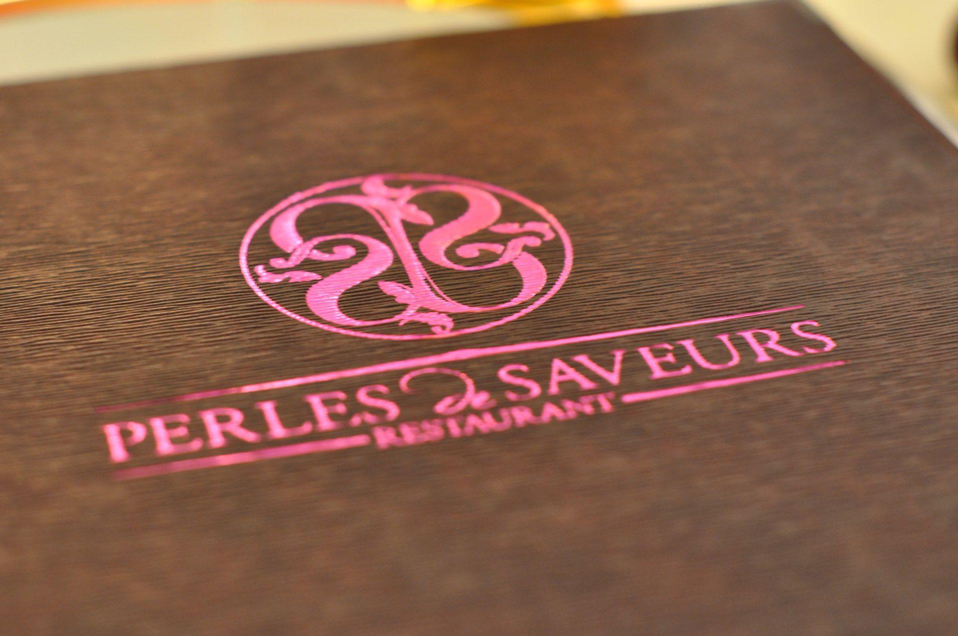 Carte menus Perles de Saveurs