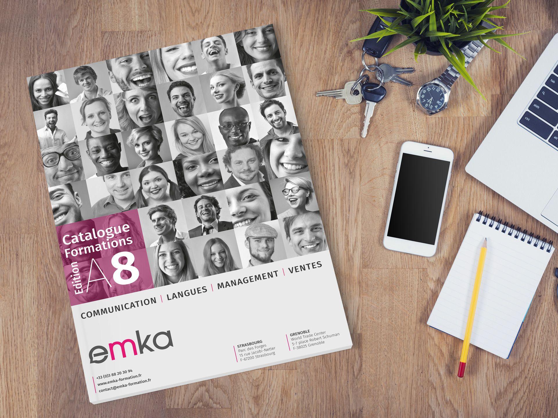 Couverture catalogue formations EMKA