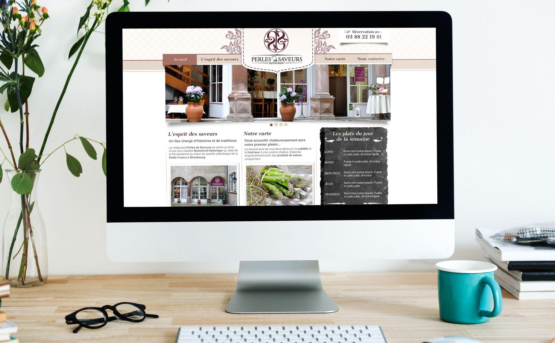 Site web 1er version Perles de Saveurs