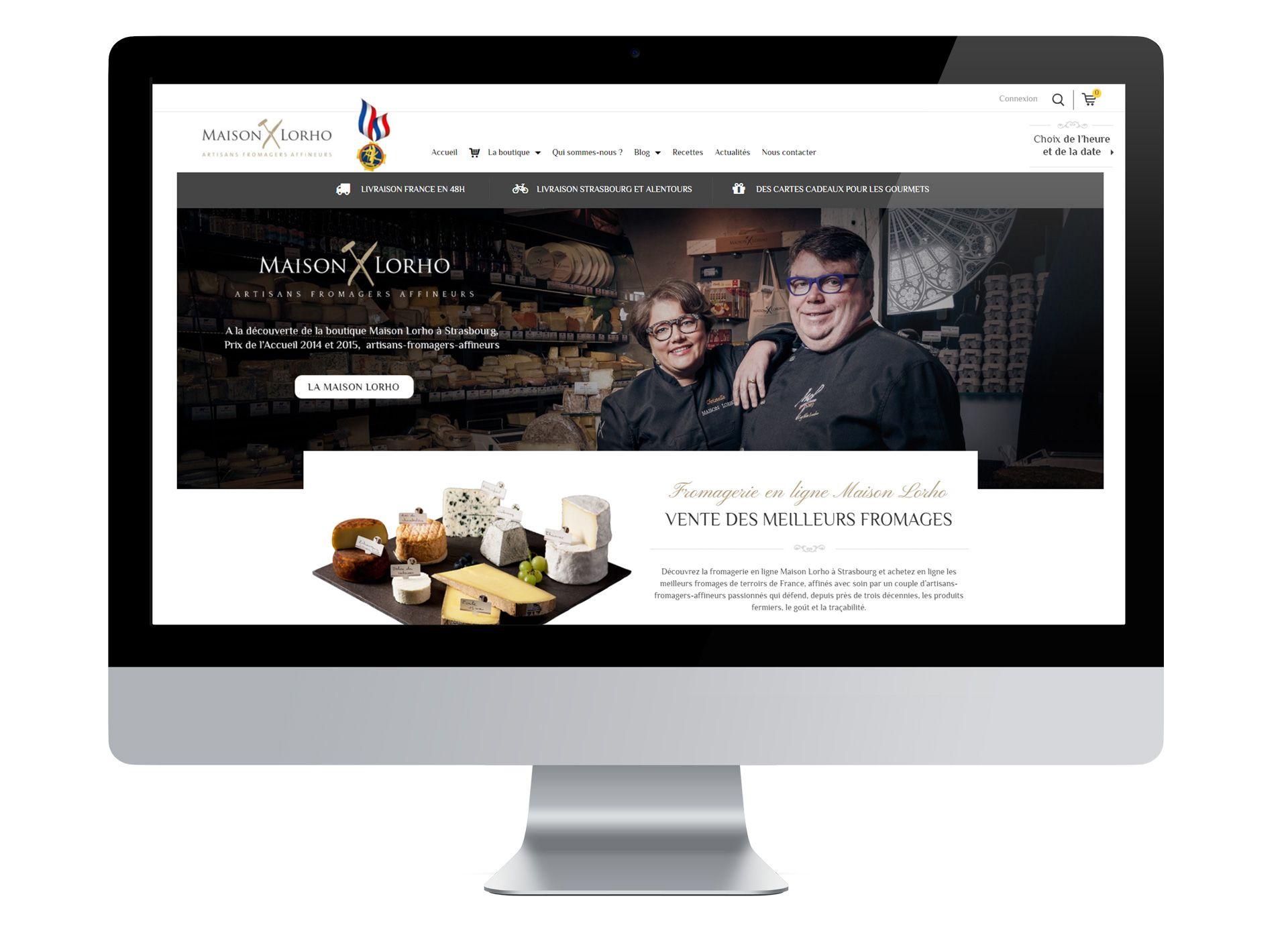 Site internet Maison Lorho